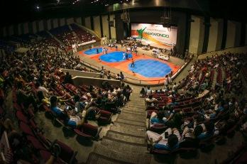 El Polyforum fue la sede del Regional de Taekwondo